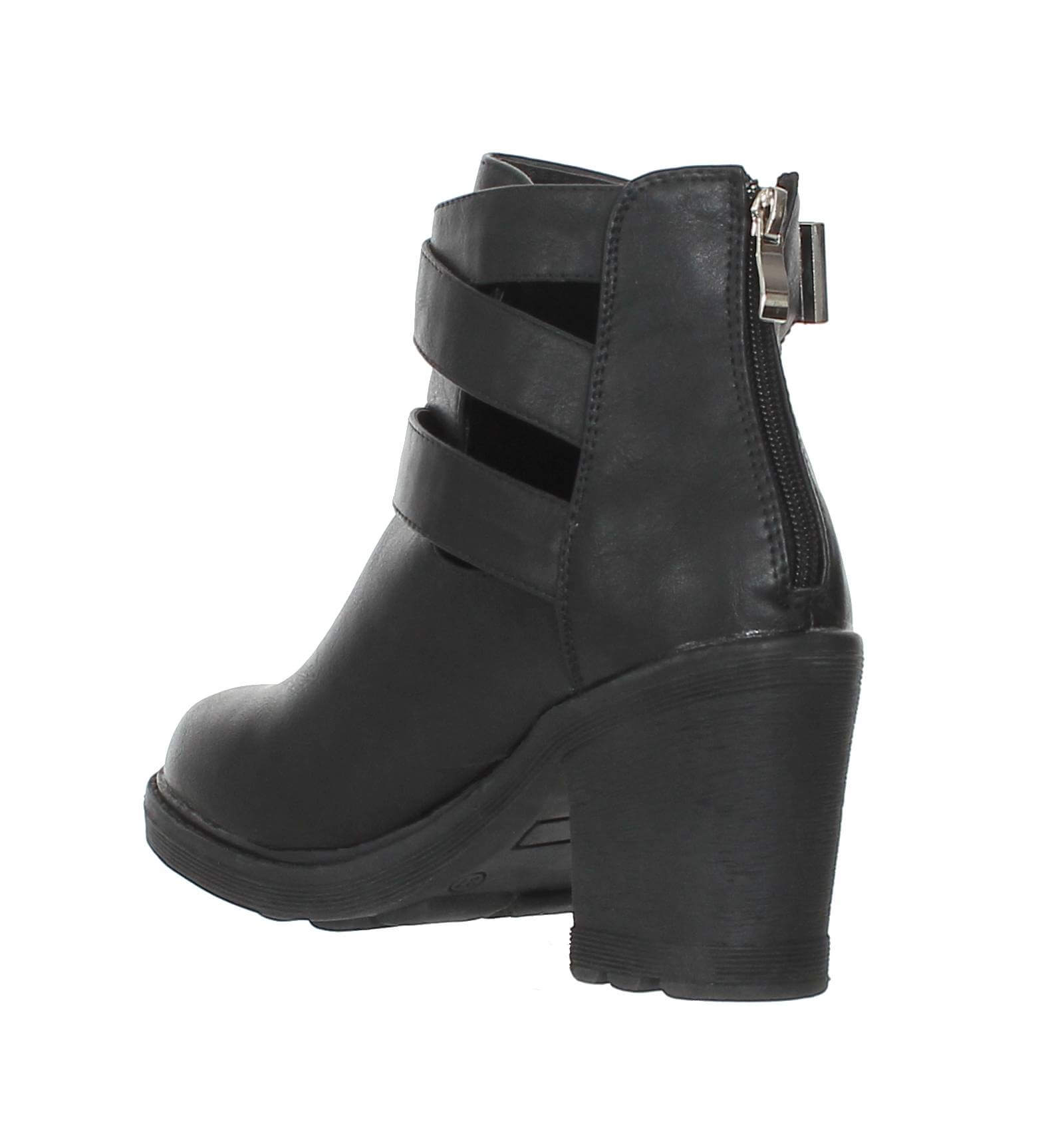 bottines femme talon noir chelsea paris city shoes