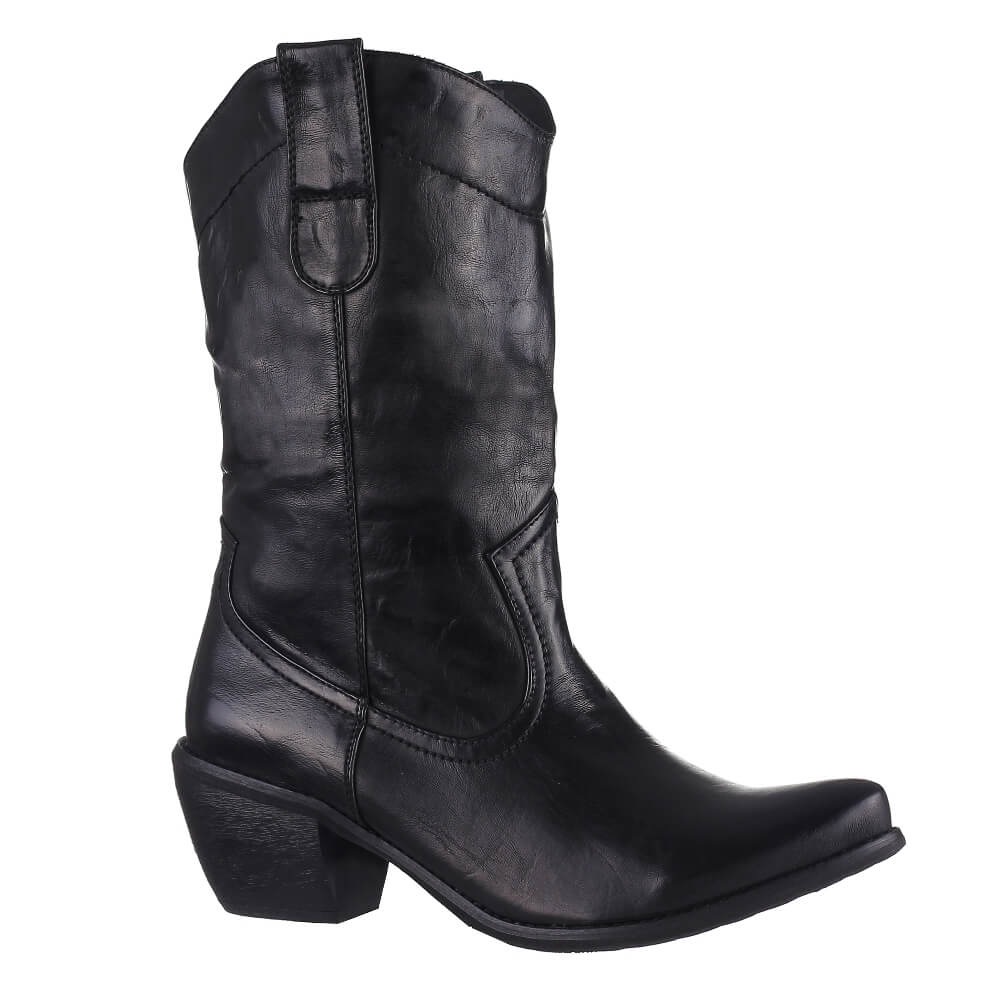 Bottines Noir Vernis Bottines-simili-cuir-verni