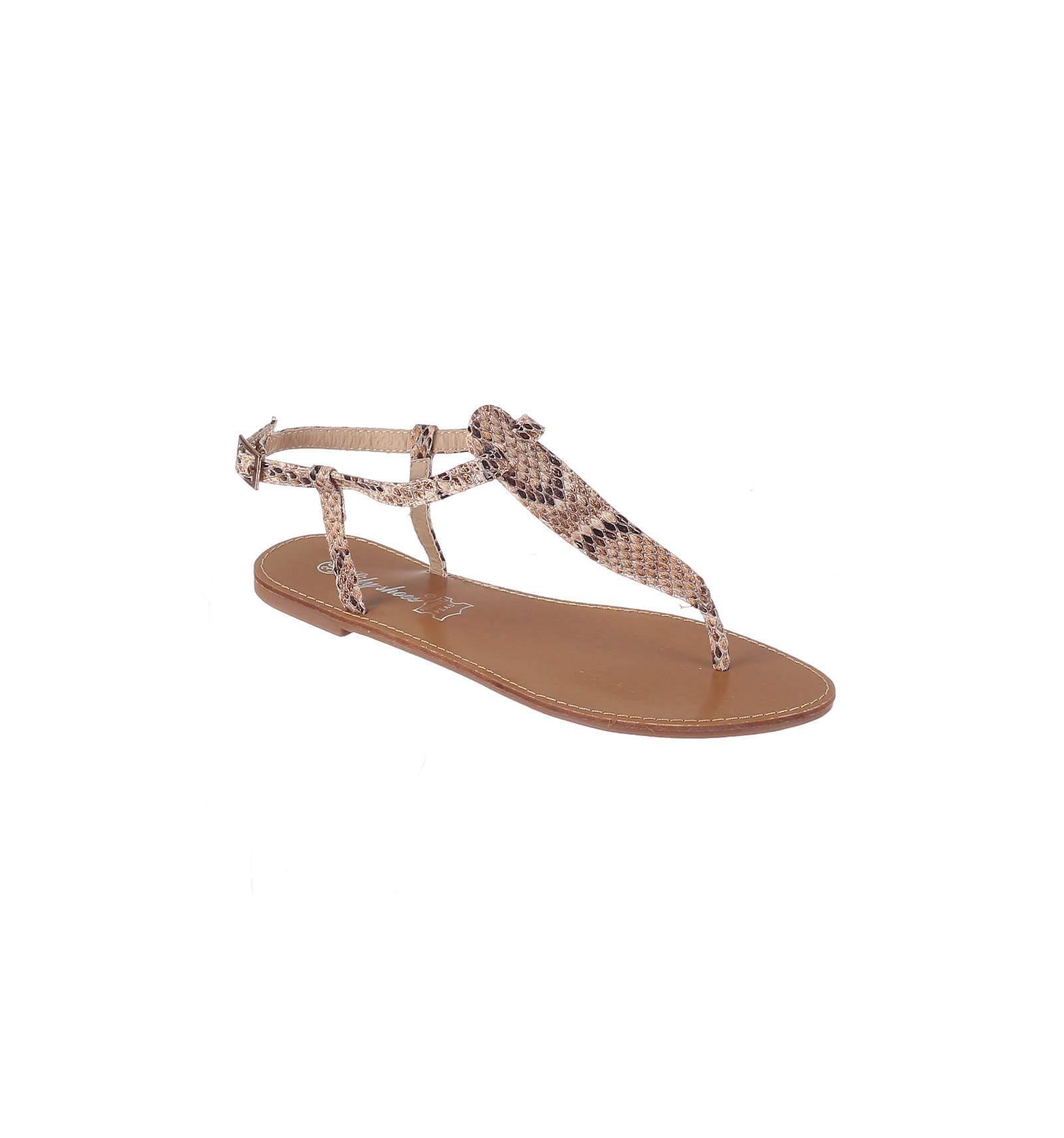 la sandale plate pour femmes motif serpent mod le ibiza