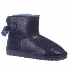 Boots aspect serpent bleu marine ELSA