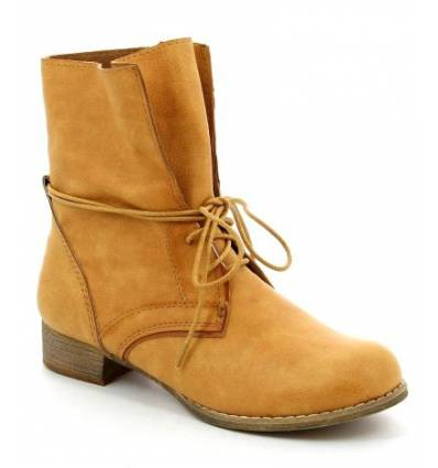 BOTTINES FEMMES DAIM CAMEL ARIZONA