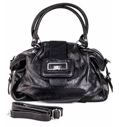 Mini sac à main femme simili cuir noir CARO