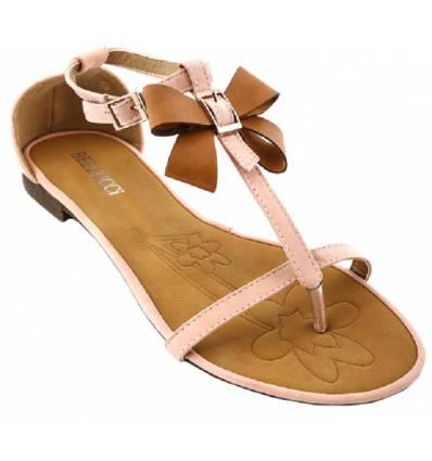Sandales femme simili cuir beige MONICA
