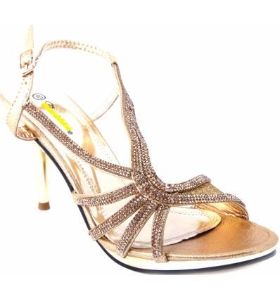 Chaussures femme de soirée doré Paula