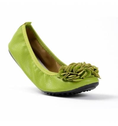 Ballerines vert anis à fleur pour femme MONCEAU