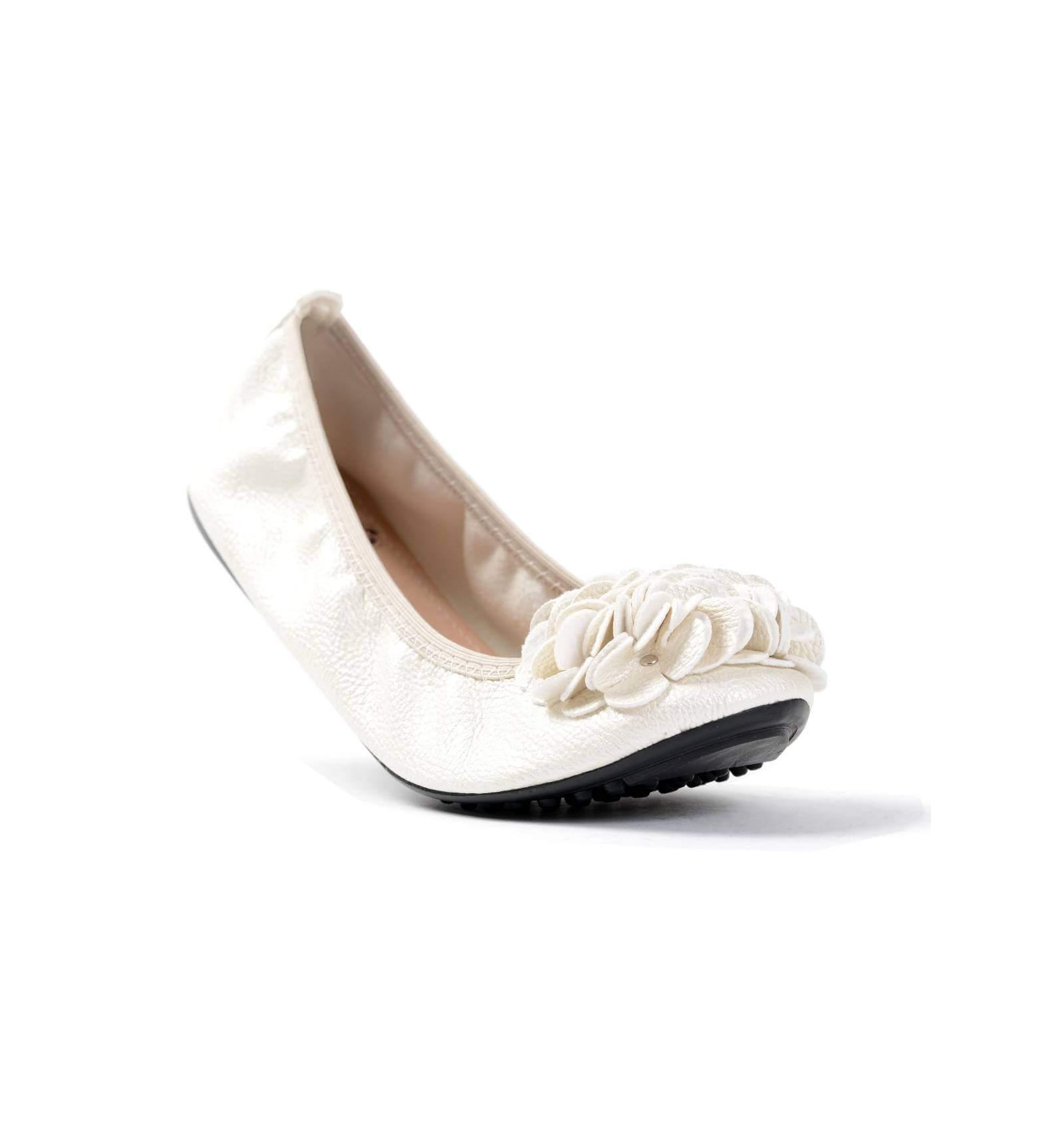 Ballerine blanc cass fleur simili cuir granul confortables monceau - Monceau fleurs porte maillot ...