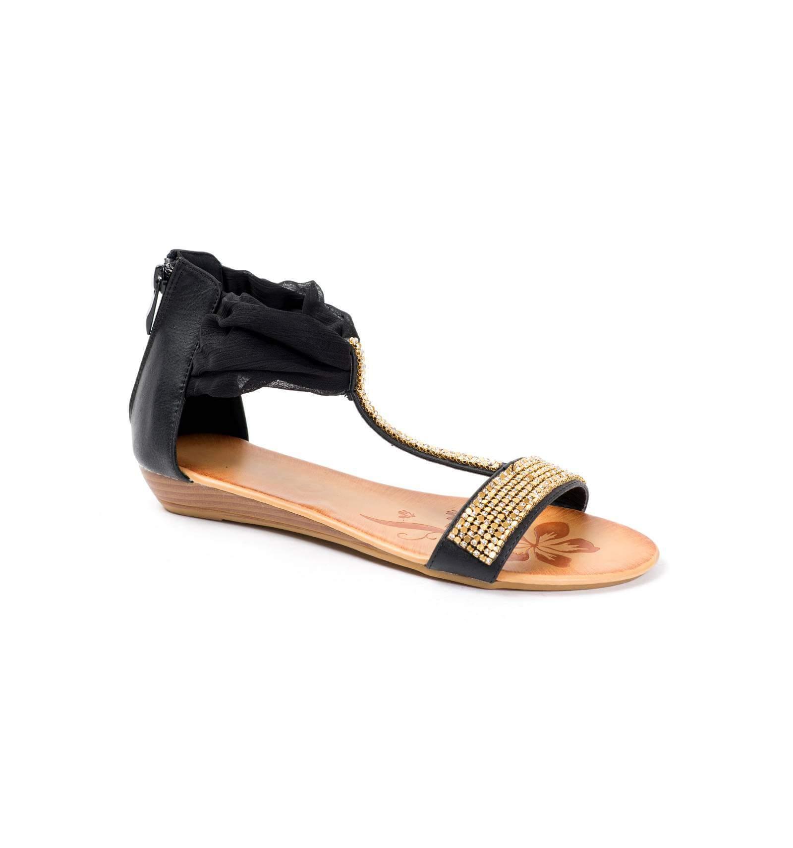 Sandales compensée à strass vQSpzN2xk