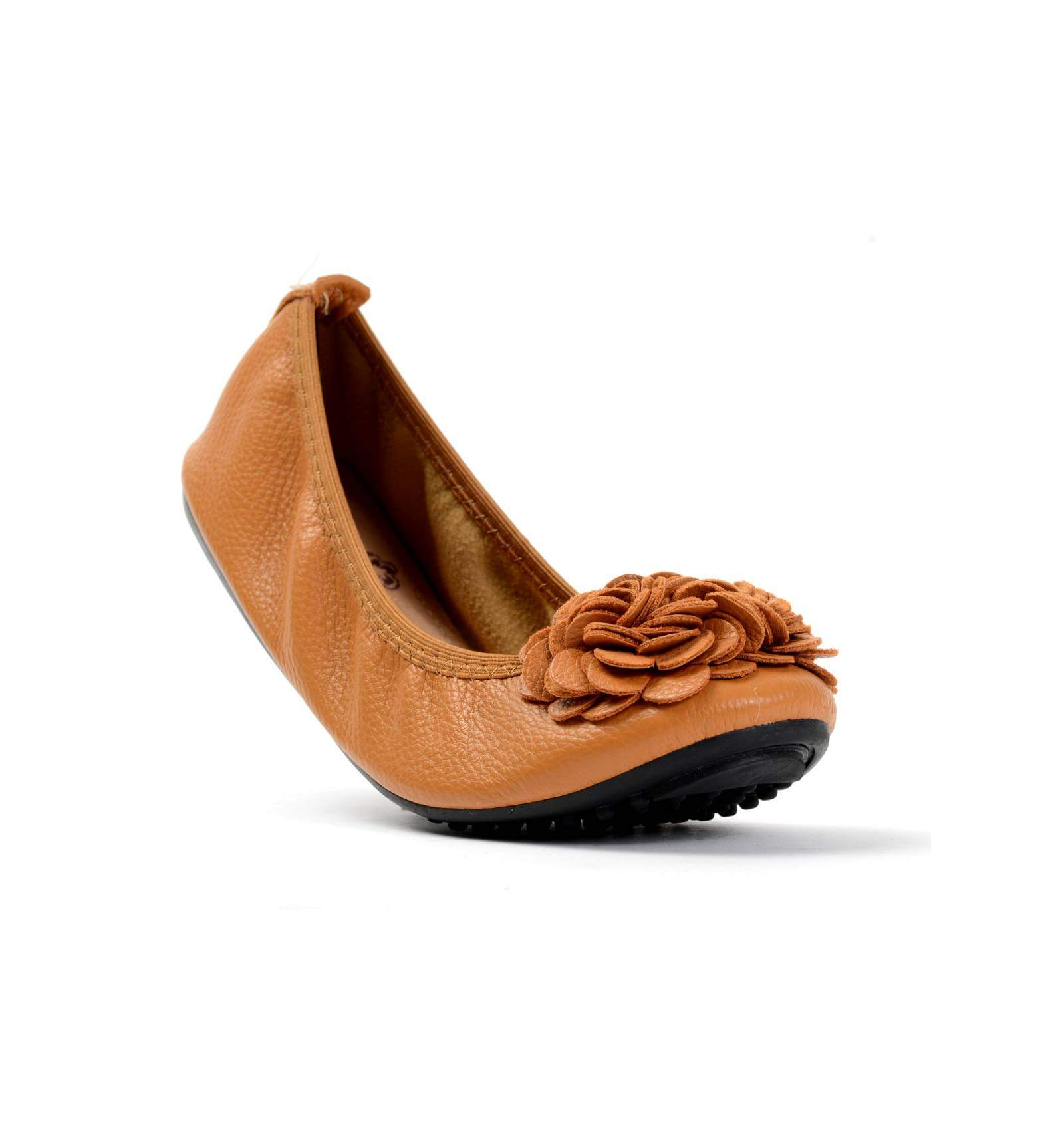 ballerine corail pour femme à fleur simili cuir très souple MONCEAU 77c7421e5378