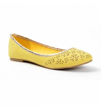 Ballerines femme à trous jaune ELODIE