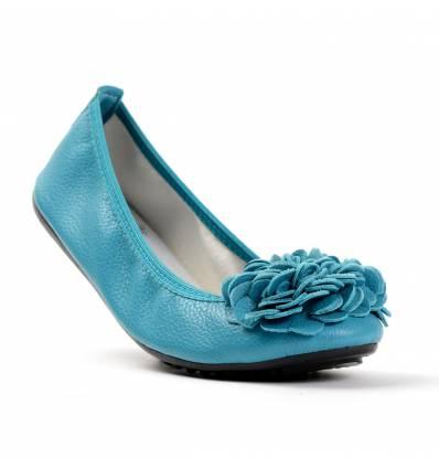 Ballerines femme souple couleur bleu turquoise MONCEAU