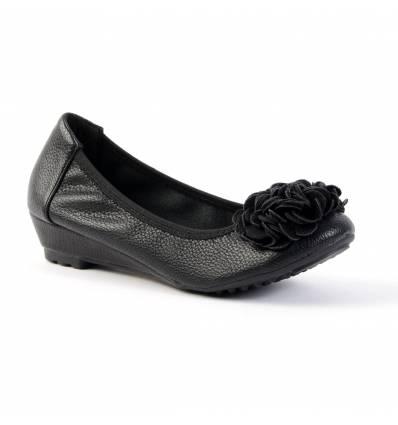 Ballerine compensée noir BELLEVILLE pour femme élégante