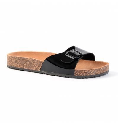 Nu-pieds noirs à bride HYDRA