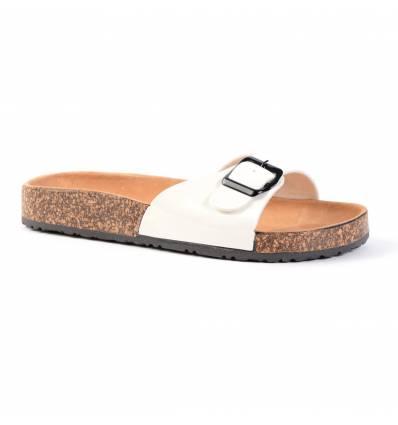 Nu-pieds blancs à bride HYDRA
