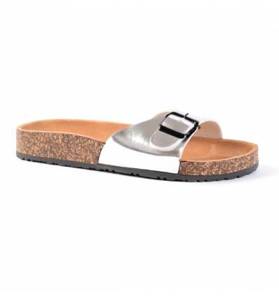 Nu-pieds argentés à bride HYDRA