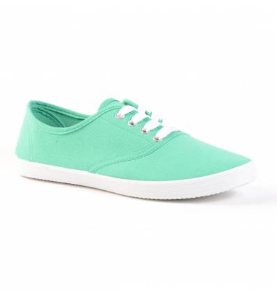 Baskets femme vert clair à lacets HILDA