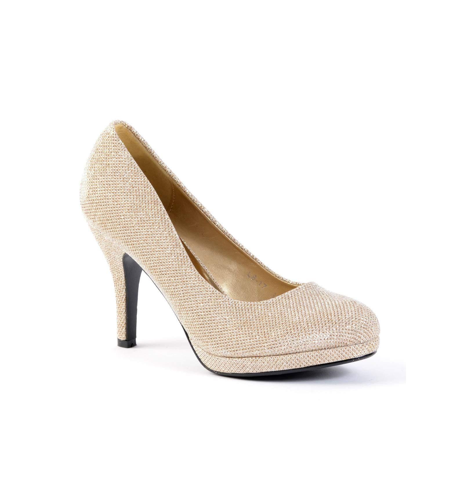 acheter populaire c6baf 971d1 Escarpins femme à paillette dorée SOFIA