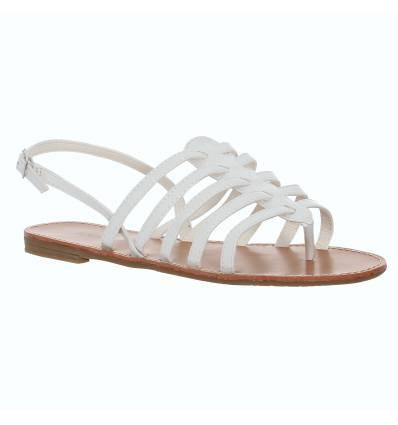 Sandales spartiates blanche vernie CARINA