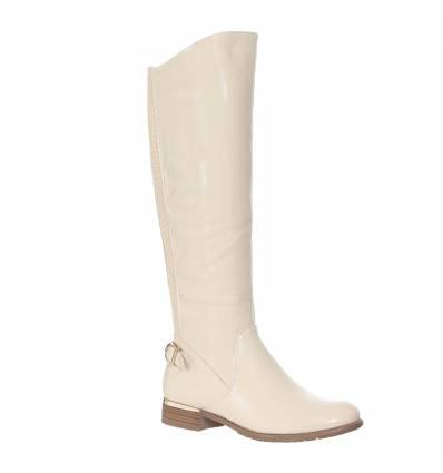 bottes femme beige