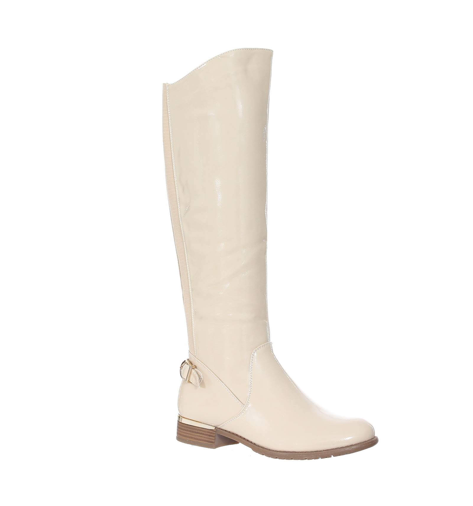 bottes femme cuire beige