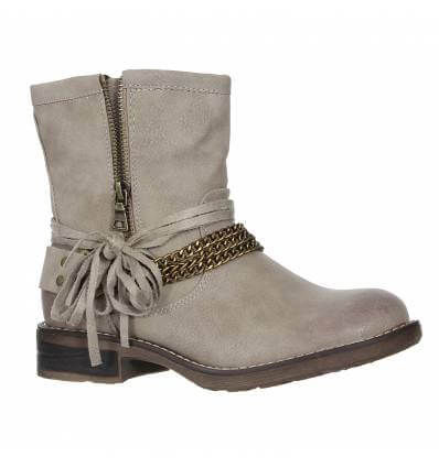 Bottines femme kaki aspect usé BROOKLYN