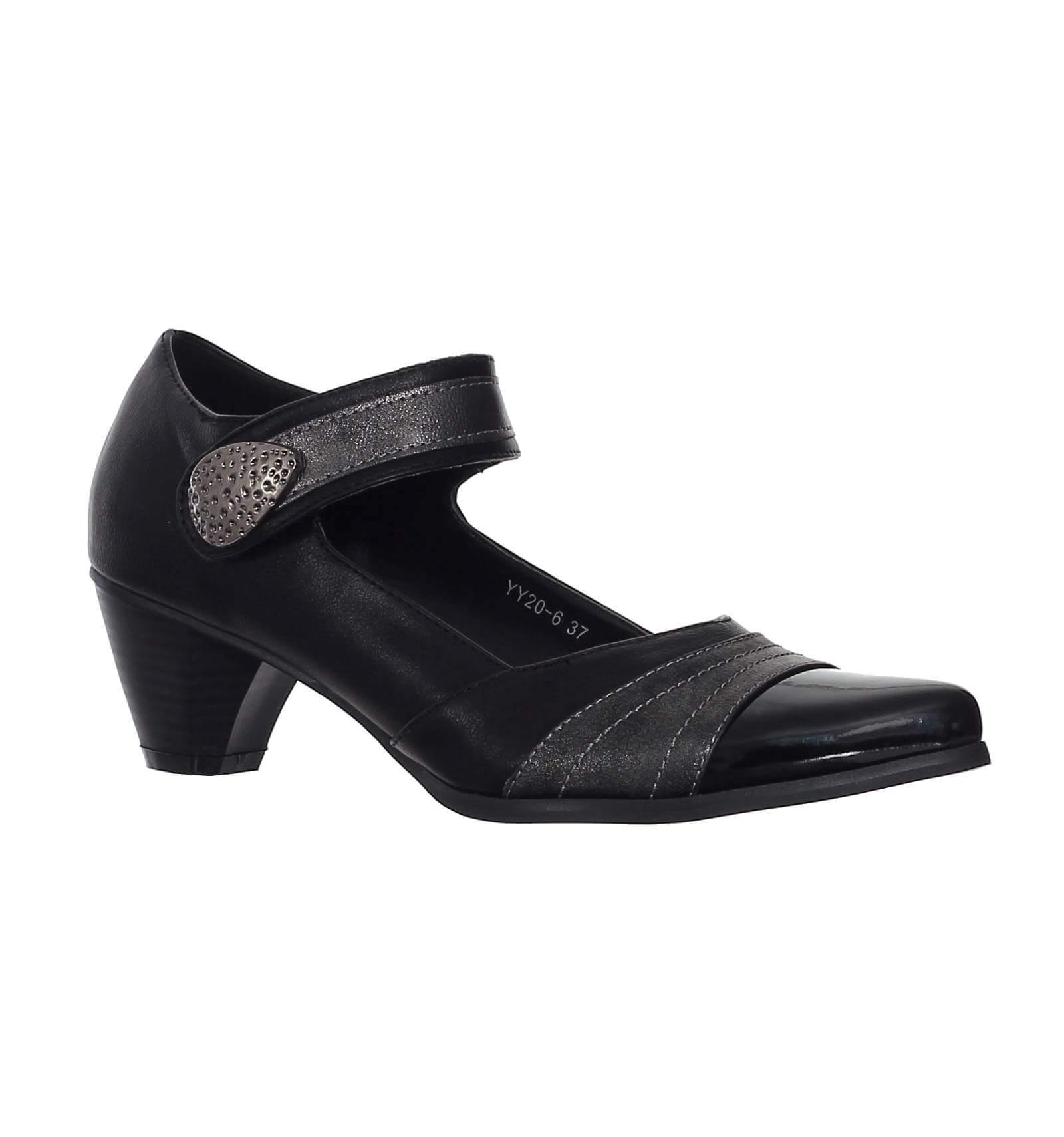 chaussure classique bout pointu avec boucle et scratch noir norwich. Black Bedroom Furniture Sets. Home Design Ideas