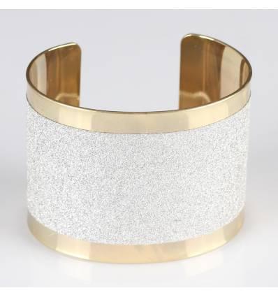 Bracelet métal pailleté liseret doré GAELLE