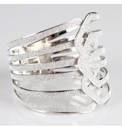 Bracelet métal argenté à paillette EMILIE