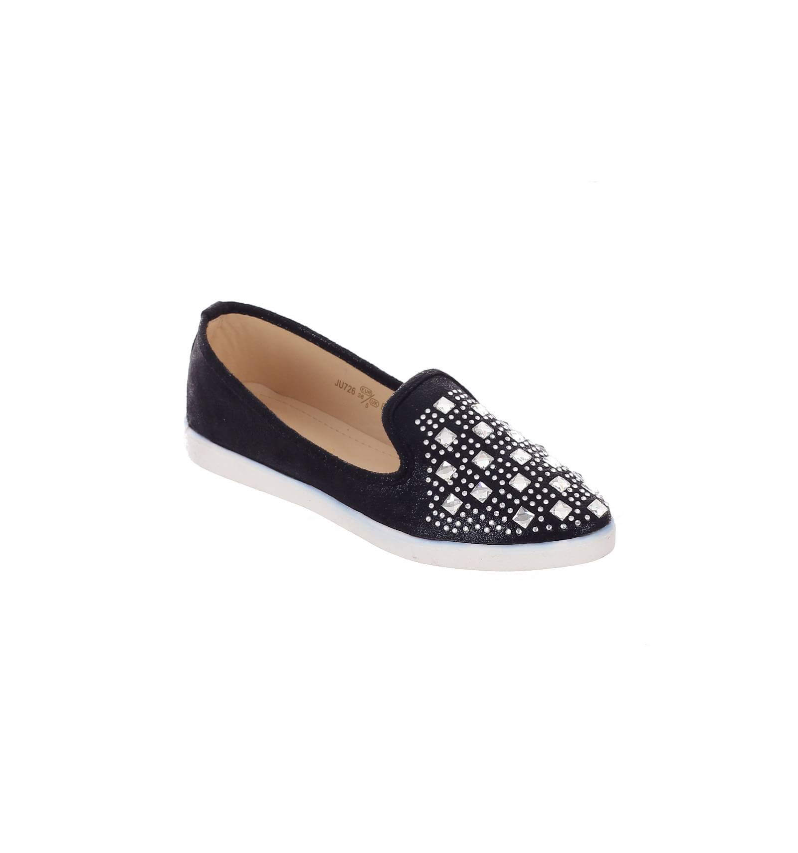 Baskets STEP ON femme à dentelle et strass noir OMELLA - Couleur:Noir Pointure:3 dA9AA