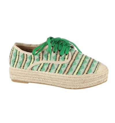 Baskets femme compensées vert SOPHIA