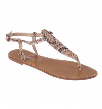 Sandales femme plates serpent vernies IBIZA