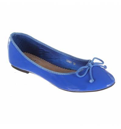 Ballerines femme bleu royal verni ELORA