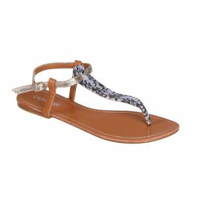 Sandales femme fleurie grise FLORIDA