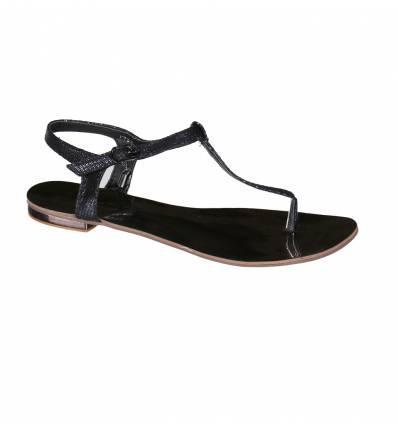 Sandales femme à boucle noire THALIA