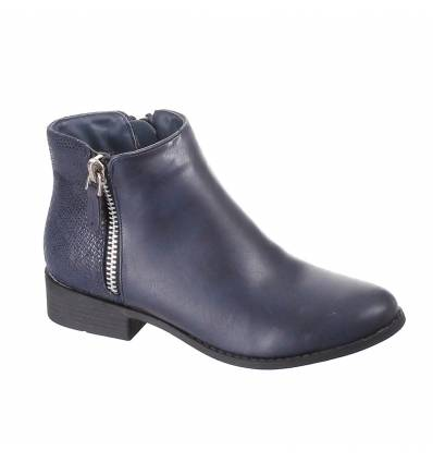 bottines basses femme serpent bleu marine CHRISTELLE