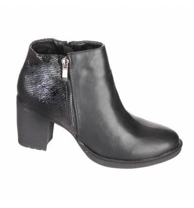Bottines femme à talon noir MADISON