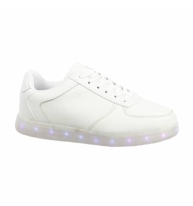 Baskets lumineuses unisexe blanches LED