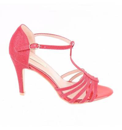 Chaussures femme de soirée à paillette argenté ANITA
