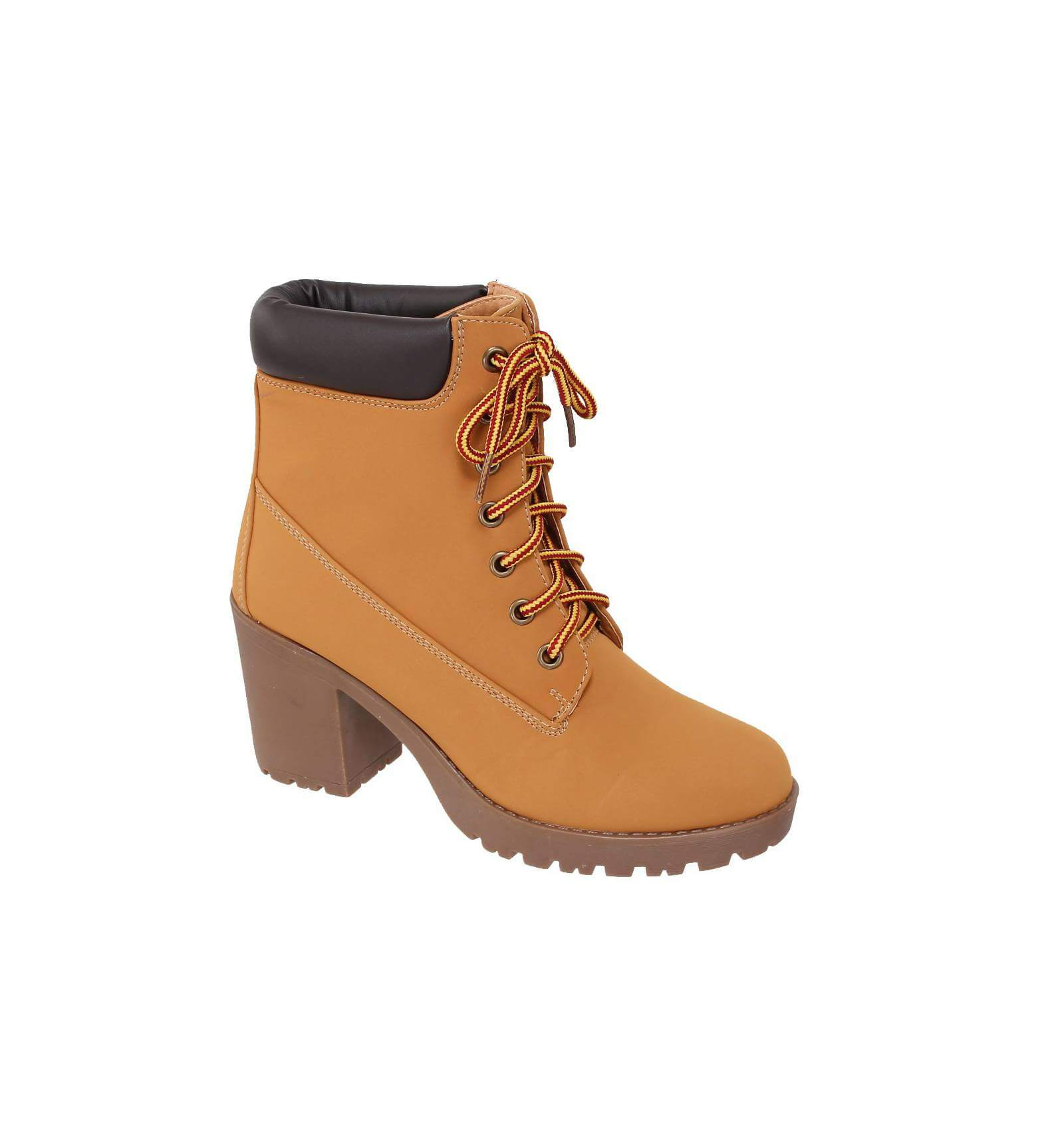 Souvent Bottines talon femme & à lacet: couleur Camel IRIS HQ34