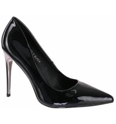 Chaussure escarpins femme talon aiguille bout pointu rouge verni LONDON