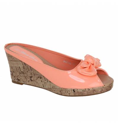 Sabots femme simili cuir saumon BETTY