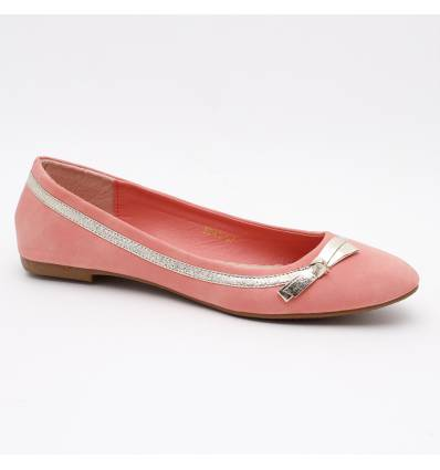 Ballerines femme simili cuir orange SOPHIE