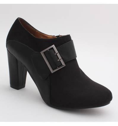 Escarpins femme aspect daim noir INGRID