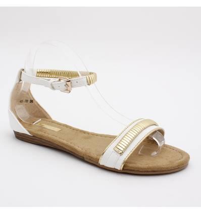 Sandales femme simili cuir blanc BELLA