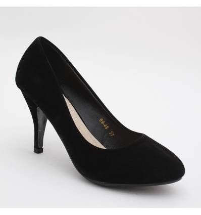 Escarpins femme aspect daim noir MONICA