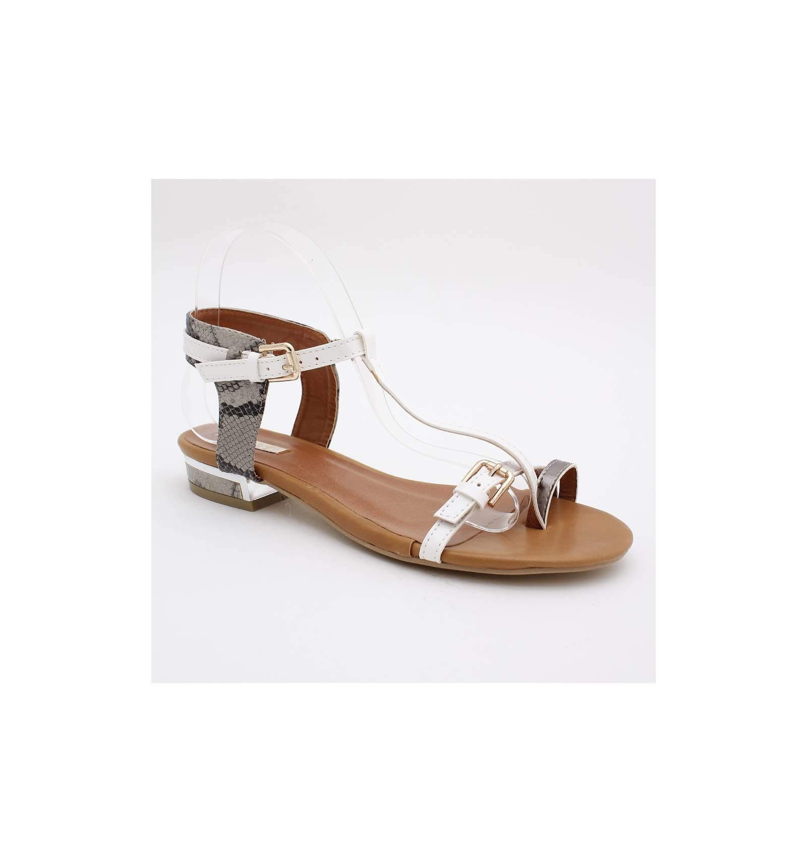 sandale femme blanc talon m tal mode. Black Bedroom Furniture Sets. Home Design Ideas
