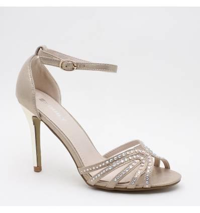 Chaussures de soirée à strass et talon aiguille LIVIA