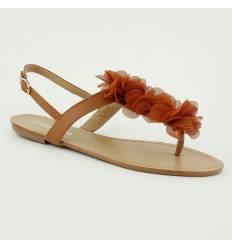 Sandales rouges femme à paillette dorée PAULINE - Couleur:Rouge Pointure: mOXE22