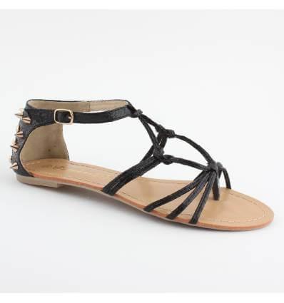 Sandales granulées à clous noir PYLA