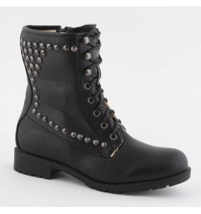 Bottines femme zip et lacets noir Dalia