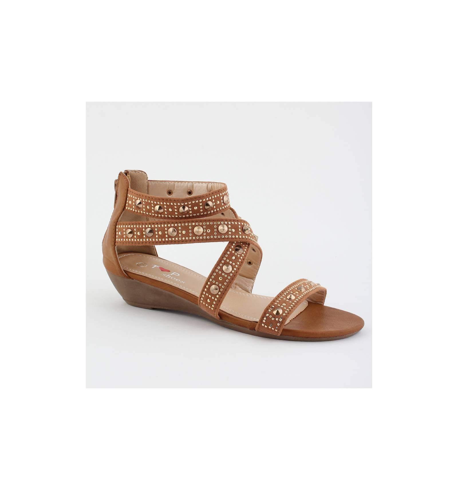 shoes city paris cher Sandale compensée pas x7nYC4Pwqp